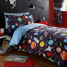 kidz club planets single bed duvet cover and pillowcase bed set bedding for boy s sun maroon dark blue co uk kitchen home