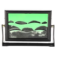 blue moving sand picture frame drifting sandscapes motion art decor desk decor