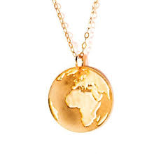 gold earth pendant gold filled and