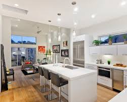 Modern l-shaped open concept kitchen idea in Los Angeles with an undermount  sink,