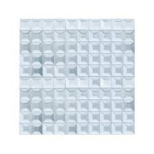 beveled glass 1x1 mosaic silver mirror square tile jmrm1 loading zoom