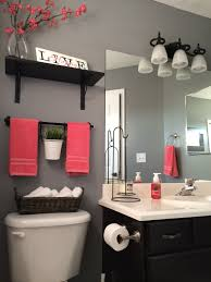 Coral Bathroom Decor I Love How The Accessories Add A Pop Of Colour You Can Change The