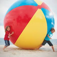 beach ball on beach. Giant Inflatable Beach Ball - Stands 10 Feet Tall On