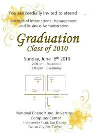 Program Invitation Templates Free Graduation Ceremony You Have Been