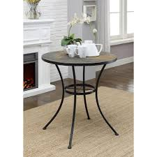 Metal Top Dining Tables 4d Concepts Black Metal Slate Top Dining Table 601611 The Home Depot