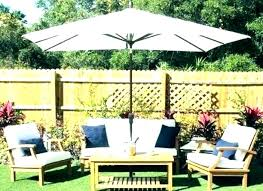 11 ft patio umbrella with solar lights full size of home depot base led offset stones