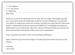 Thank You Letter After Interview With Recruiter - Letter Of ...