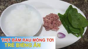 Hướng dẫn] cách nấu cháo thịt lợn rau mồng tơi cho bé ăn dặm
