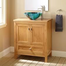 Bamboo Bathroom Cabinets 30 Narrow Depth Alcott Bamboo Vessel Sink Vanity Bathroom