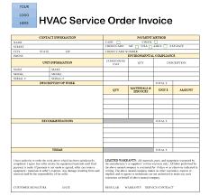 Hvac Invoice Templates Mesmerizing 44 Free HVAC Invoice Templates Demplates