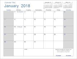 Open Office Calendar Template 2018 | Yamahdi.org
