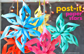 paper snowflakes 3d 3d paper stars from post it notes babble dabble do
