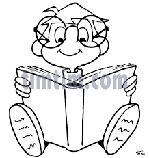 505x534 free drawing of a book boy bw from the books news
