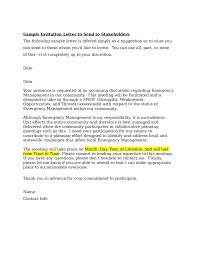 formal invitation invitation letter sle letter of invitation