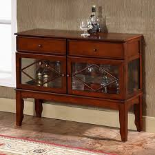 buffet cabinet sideboard storage table rustic wood furniture glass doors drawers