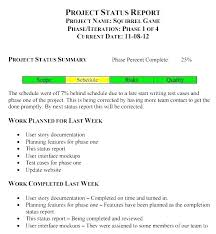 Weekly Project Status Template Project Management Weekly