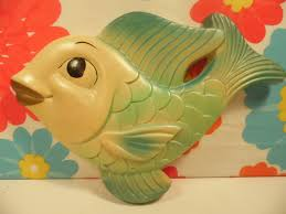 Bathroom Fish Decor Chalkware Fish Miller Studio Bathroom Decor Vintage 1960s Fish