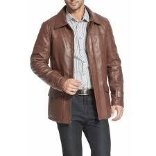 bgsd men s hunter patch pocket lambskin leather coat 0