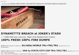 an adver for a large new batch of stolen credit card accounts at the joker s stash dark web market
