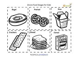 Small Picture Grains Food Nutrition Flash Cards Cut Out Printable for Kids