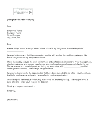 2 Week Resignation Letter Inspiration Resignation Notice Template Letter Of 48 Weeks Withdrawal During