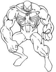 Small Picture Venom Coloring Page Venom Coloring Pages For Kids Venom Coloring