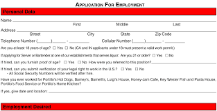 Applebee S Job Application Form Best Template Design Images