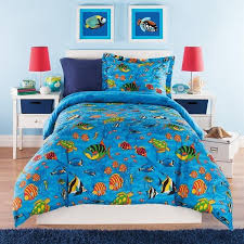 Kids Twin Comforter Set Aquarium Themed Full Sea Life Under Water  Pertaining To Fish Idea 8