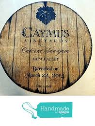 Hot promotions in wine barrel wall decor on aliexpress think how jealous you're friends will be when you tell them you got your wine barrel wall decor on aliexpress. Caymus Vineyards Personalized Decorative Sign Wine Barrel Top Wall Art Painting On Carved Plywood Handpainted Artwork Wine Signs Winery Decor Wine Decor