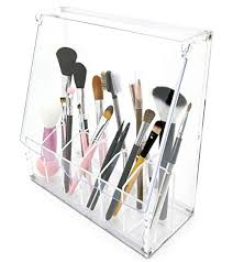 amazon clear acrylic diy makeup brush holder cosmetic organizer 12 partment home kitchen