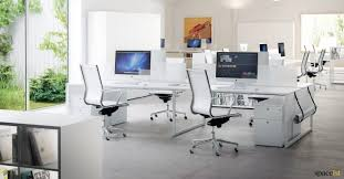 long office desk. Frame Four Person Desk In White Spaceist Office Long