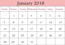 january 2018 calendar free january 2018 cute calendar free monthly calendars