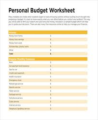 examples of personal budgets 14 personal budget examples samples