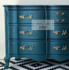 Paint For Bedroom Furniture Painted Peacock Blue Dresser Thirty Eighth Street