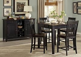 three falls 40 dark brown black square counter height table w solid wood top