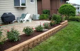 10 images of landscaping around square patio