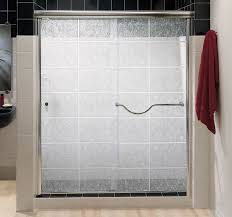 romantic frosted glass shower doors at