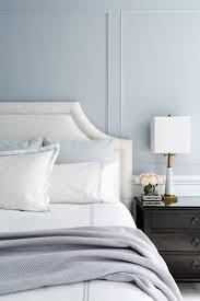 gray bedding transitional bedroom