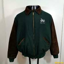 Details About Holloway Varsity Usa Wool Jacket Mens Size Xl Green Brown School Jock Insulated