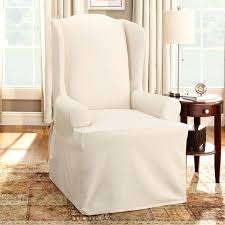 livingroom slipcovers for club chairs small stretch barrel and ottomans with t cushion white wingback