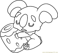 Small Picture Nekkoara Pokemon Sun and Moon Coloring Page Free Pokmon Sun and