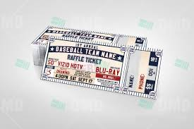 sports invites classic baseball raffle ticket template raffle ticket design 5 product 3