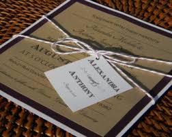 kraft paper invite etsy Rustic Barn Wedding Invitations Etsy rustic modern wedding invitation suite, kraft wedding invitation, wedding invitation, purple, kraft barn wedding invitations etsy