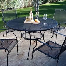 5 Piece Wrought Iron Patio Furniture Dining Set Seats 4