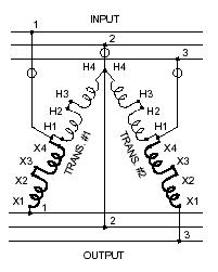 3 phase motor voltage electrical contractor talk Buck Boost Transformer Schematic re 3 phase motor voltage buck boost transformer circuit diagram