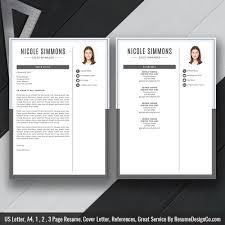 Resume Template 2019 Professional Cv Template 2 Page Resume Cover Letter Cv Design Word Resume Resume Design Best Resume Instant Download