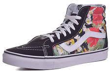 vans shoes with flowers. vans sk8 hi reissue digi aloha black floral true white shoes mens 10 vans with flowers