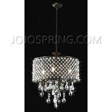 antique copper 5 light crystal drop chandelier pertaining to