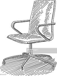 office chair drawing. Brilliant Office Office Chair Drawing  Vector Art And I