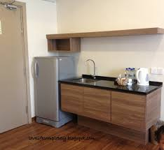 Appealing Free Standing Brown Hardwood Mini Kitchen With Black Glass Tiled  Countertops And Single Kitchen Sink Feat Custom Wall Mount Sheleves As  Inspiring ...